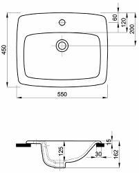 Koło Umywalka Wpuszczana Nova Pro 60 Cm Z Otworem M3186100 Szybka